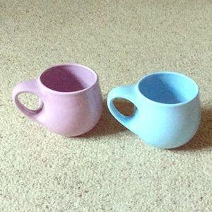 2 Starbucks pastel mugs 16oz